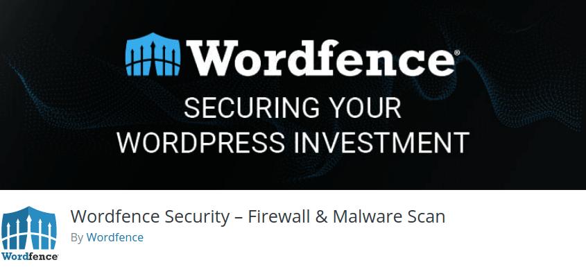 Wordfence Security – Firewall Malware Scan