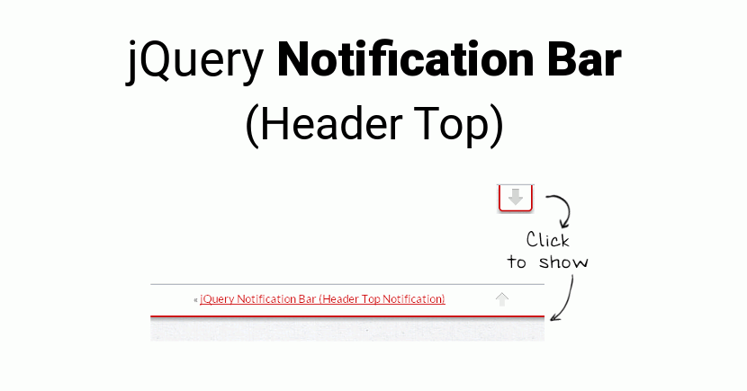 Create jQuery Notification Bar