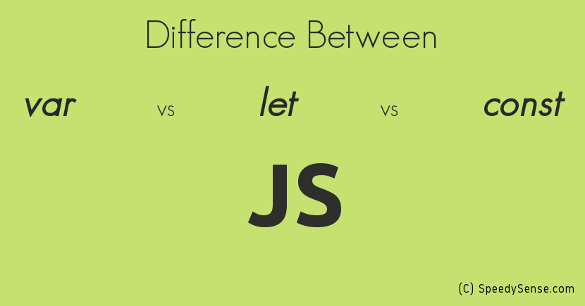 var vs let vs const in JavaScript