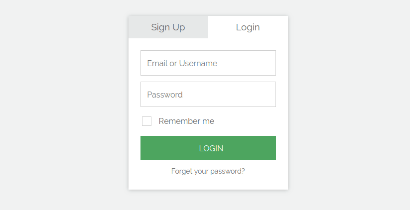 Signup Login Forms