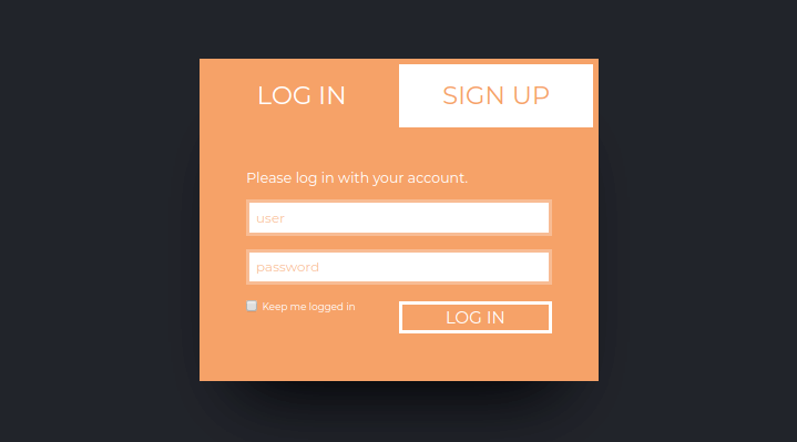 Login/Sign Up Forms