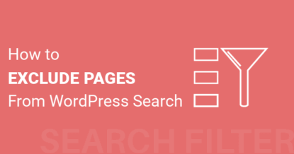 How To Exclude Pages From WordPress Search Results