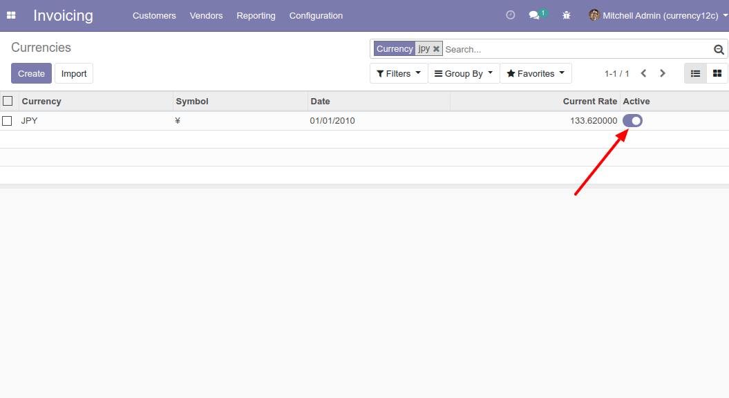 Activate New Currency to Change Currency in Odoo 12