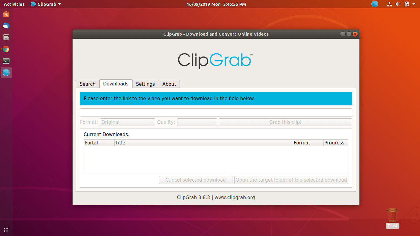 ClipGrab Application - How to Install ClipGrab on Ubuntu 18.04