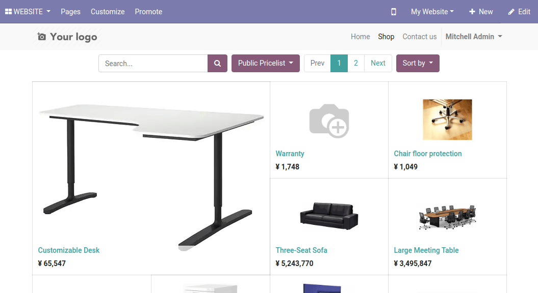 New Currency in Odoo e-commerce