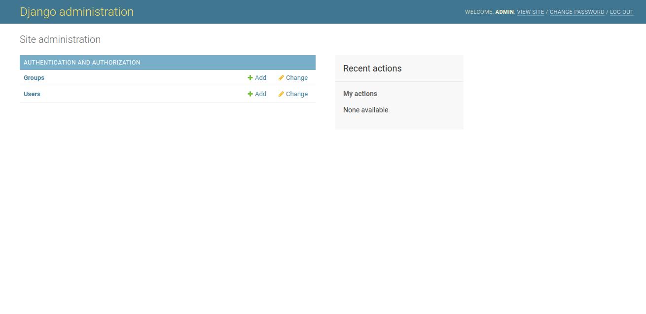 Django Admin Panel Page - Install Django on Ubuntu 18.04