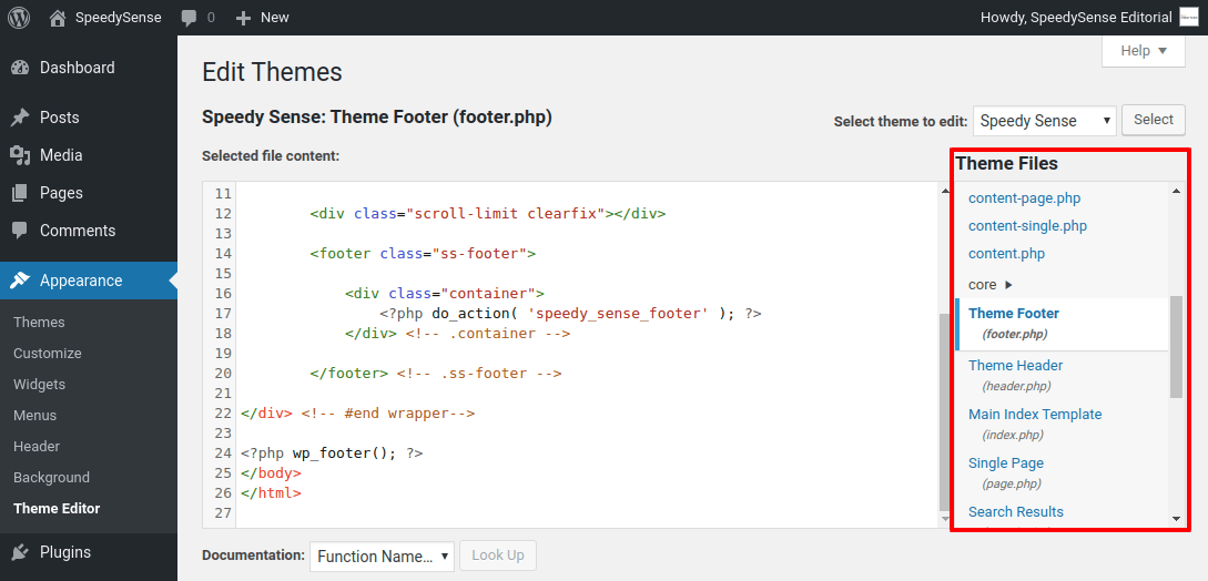 Theme files - WordPress Shortcode