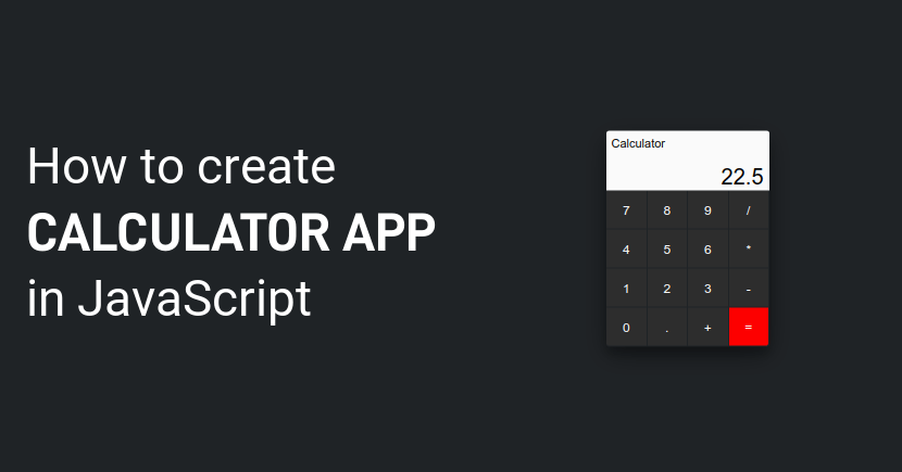 JavaScript Calculator Program | Calculator App with JavaScript