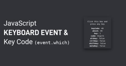 JavaScript Keyboard Event   JavaScript Keyboard Key Code