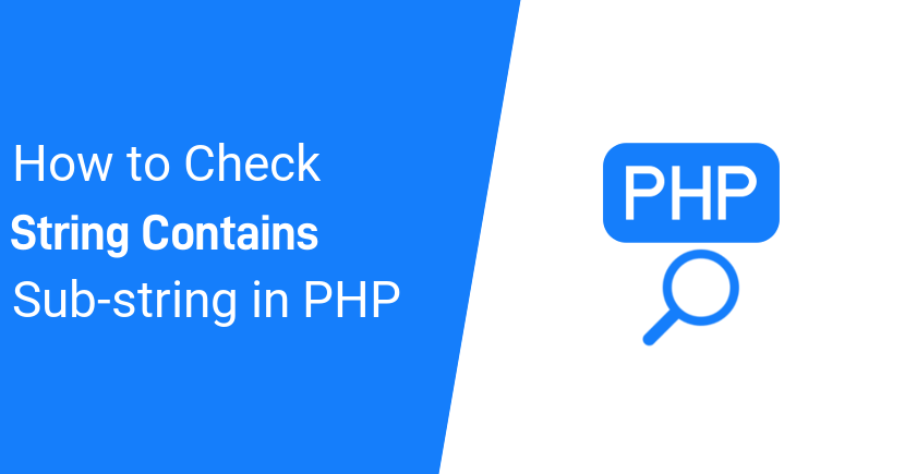 How to Check If String Contains Substring in PHP