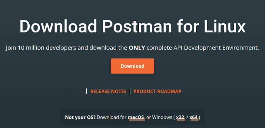 Download postman for ubuntu 20.04
