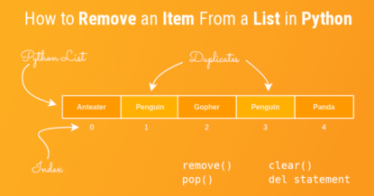 How to Remove an Item From a List in Python (remove, pop, clear, del)