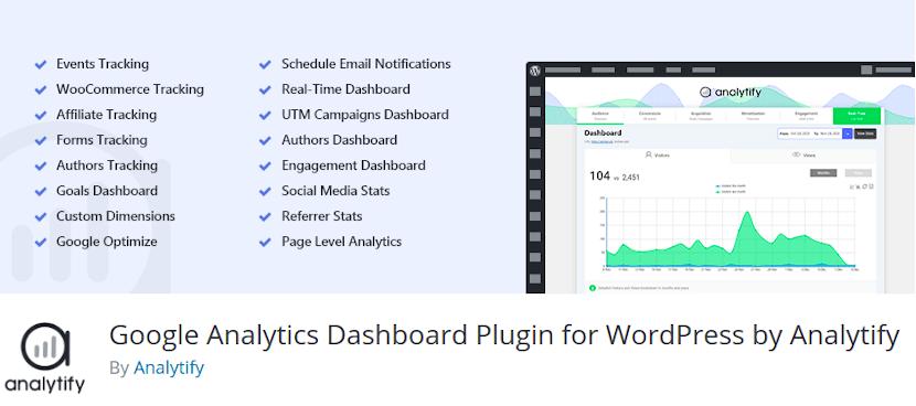 Analytify WordPress Google Analytics Plugin