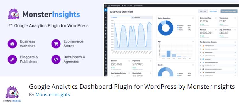 MonsterInsights - Google Analytics Dashboard Plugin for WordPress