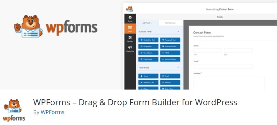 WPForms – Drag & Drop Form Builder for WordPress