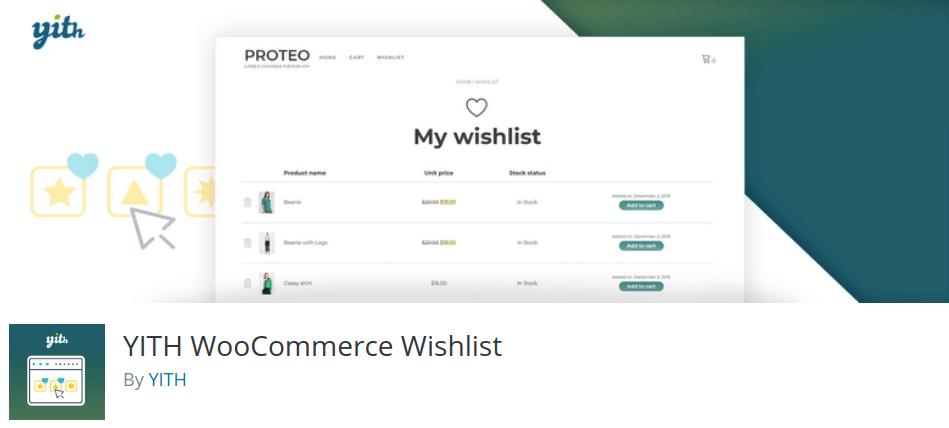 YITH WooCommerce Wishlist Plugin