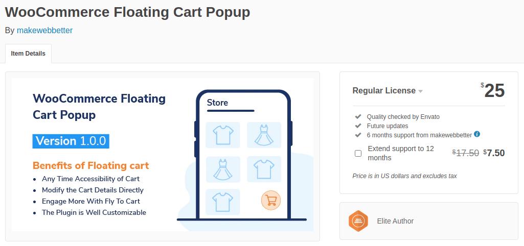 WooCommerce Floating Cart Popup